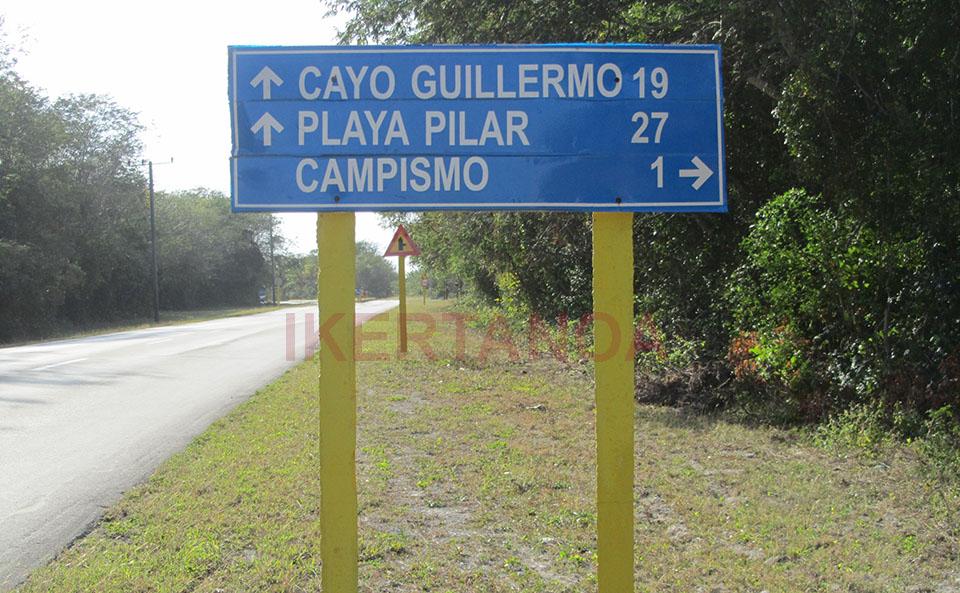 Señal en Cayo Coco