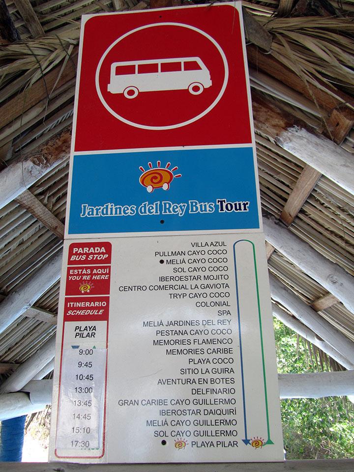 Autobús en Cayo Guillermo