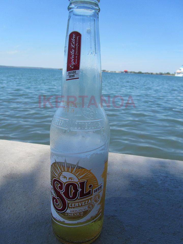 Cerveza sol en Cienfuegos