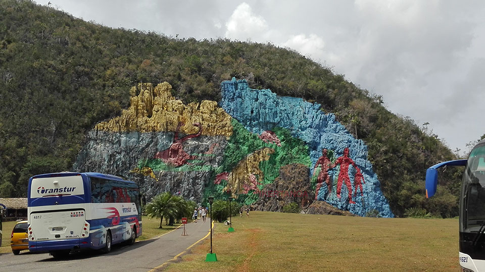El Mural de la Prehistoria en Viñales