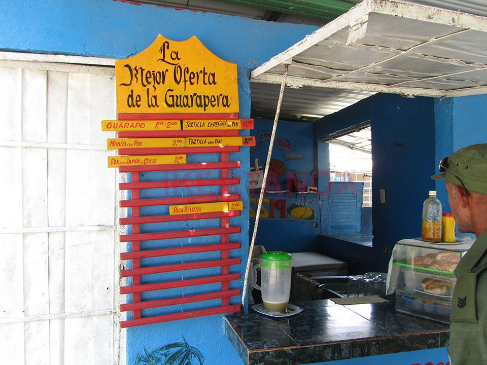 El puestito del jugo de caña de azúcar en Santa Clara