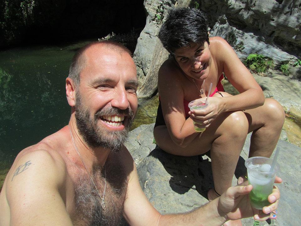 Mojito en las cascadas del Valle de los Ingenios