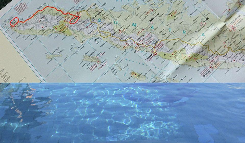 De Medan a Banda Aceh, Sumatra, Indonesia. Mapa con la ruta que seguimos - Viajes Ikertanoa