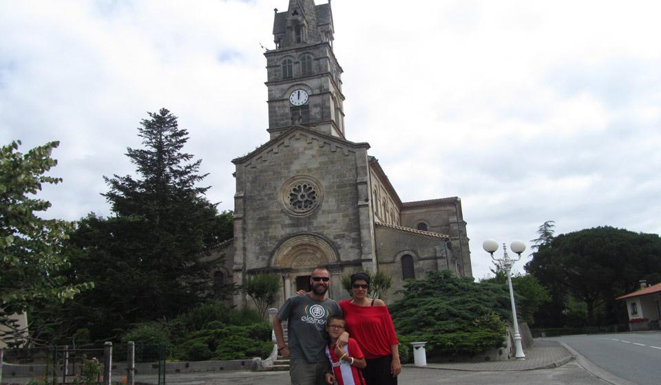 Iglesia de Sanguinet en Las Landas al sur de Francia