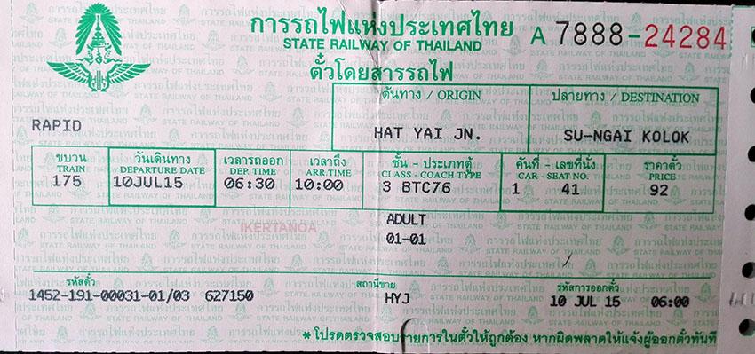 Ticket de Hat Yai a Sungai Kolok, Viajes a Tailandia con Viajes Ikertanoa