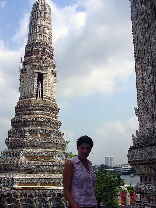 Vistas desde Wat Arum. Viajes a Bangkok, Tailandia con Viajes Ikertanoa.
