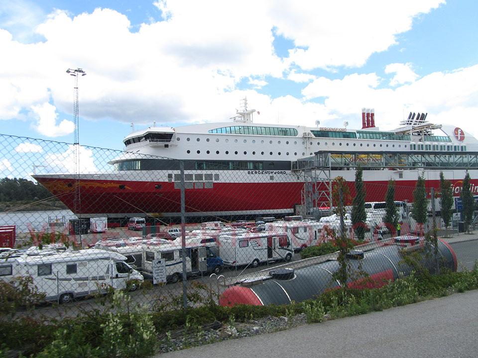 Ferry Hirtshals-Langesund, de Dinamarca a Noruega.