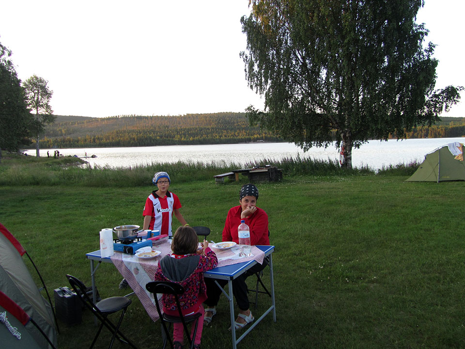 Camping Artic Camp Jokkmokk en Suecia.