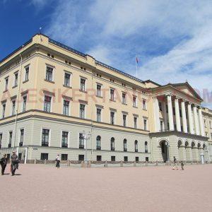 Det Kongelige Slott, el Palacio Real en Oslo, Noruega.