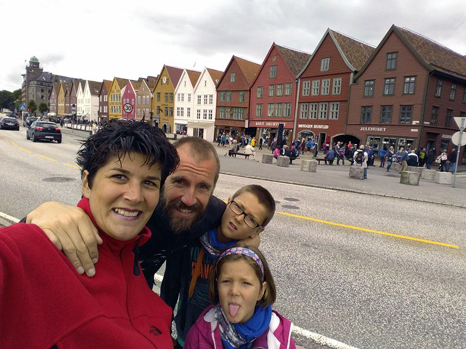El barrio de Bryggen en Noruega.