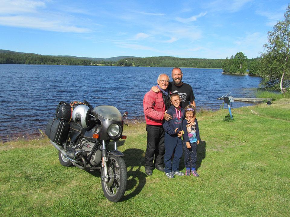 En el camping Snibbens en Ramvik, Suecia.