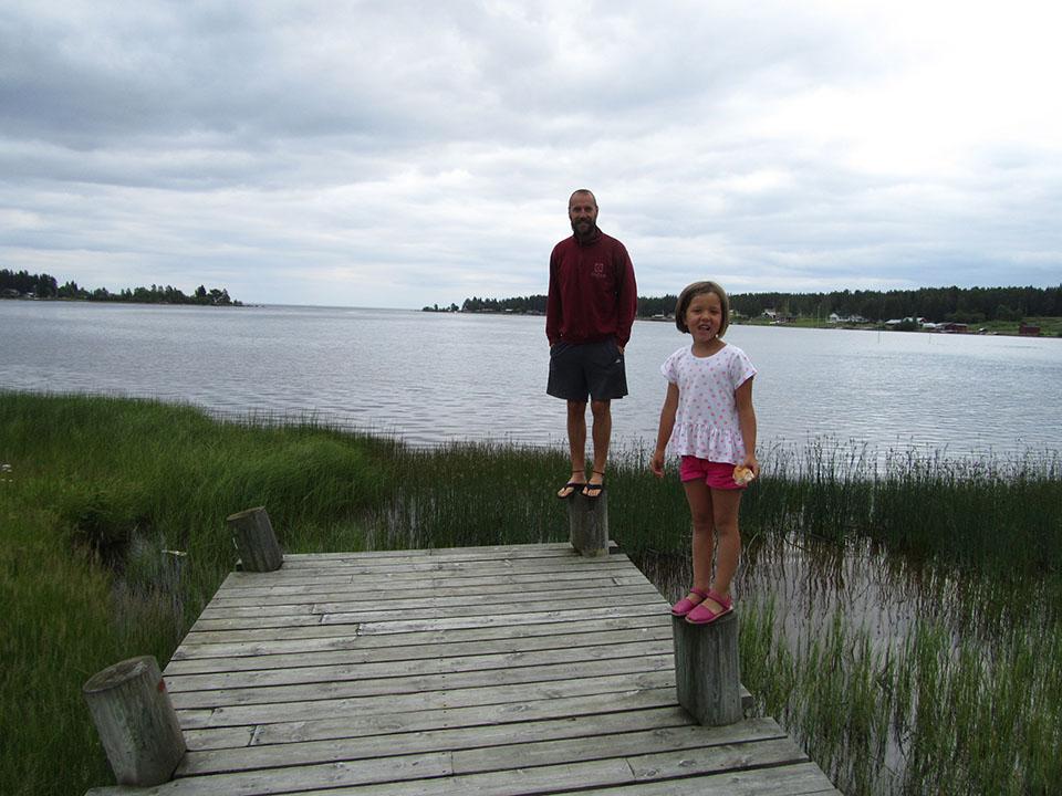 El embarcadero del pueblo de Piteä en Suecia.