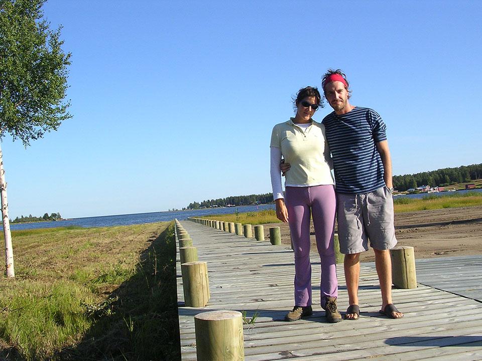 El embarcadero de Piteä 10 años antes, en Suecia.