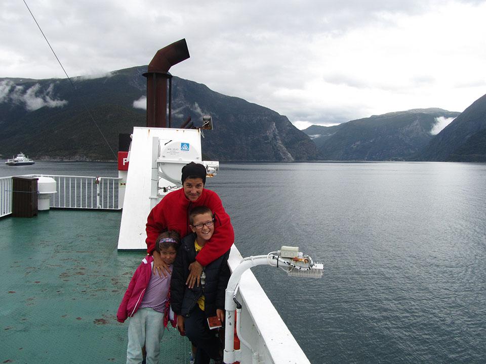El ferry de Mannheller a Fodnes en Noruega.