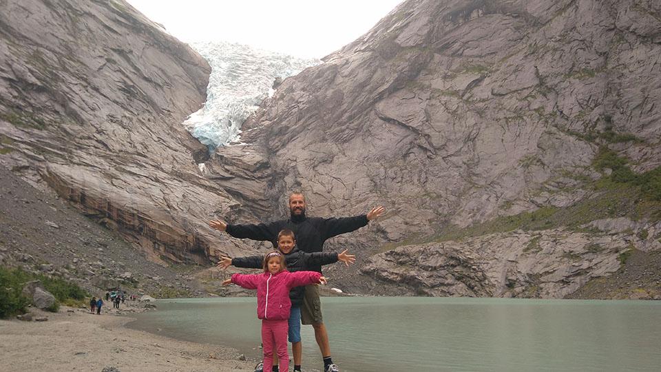 El glaciar Briksdalsbreen en Noruega.