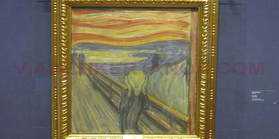 """El cuadro """"El Grito"""" de Edward Munch en el Museo Nacional en Oslo, Noruega."""