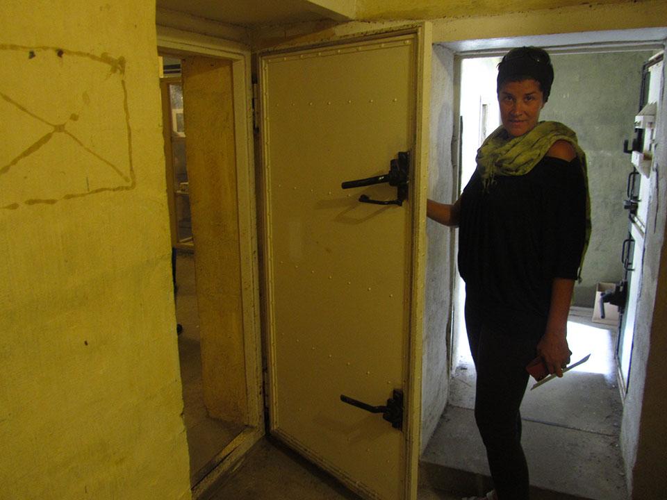 El interior de los bunker en Hirtshals, Dinamarca.