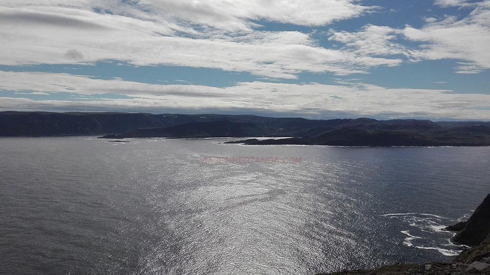 El Mar de Barents en Cabo Norte en Noruega.