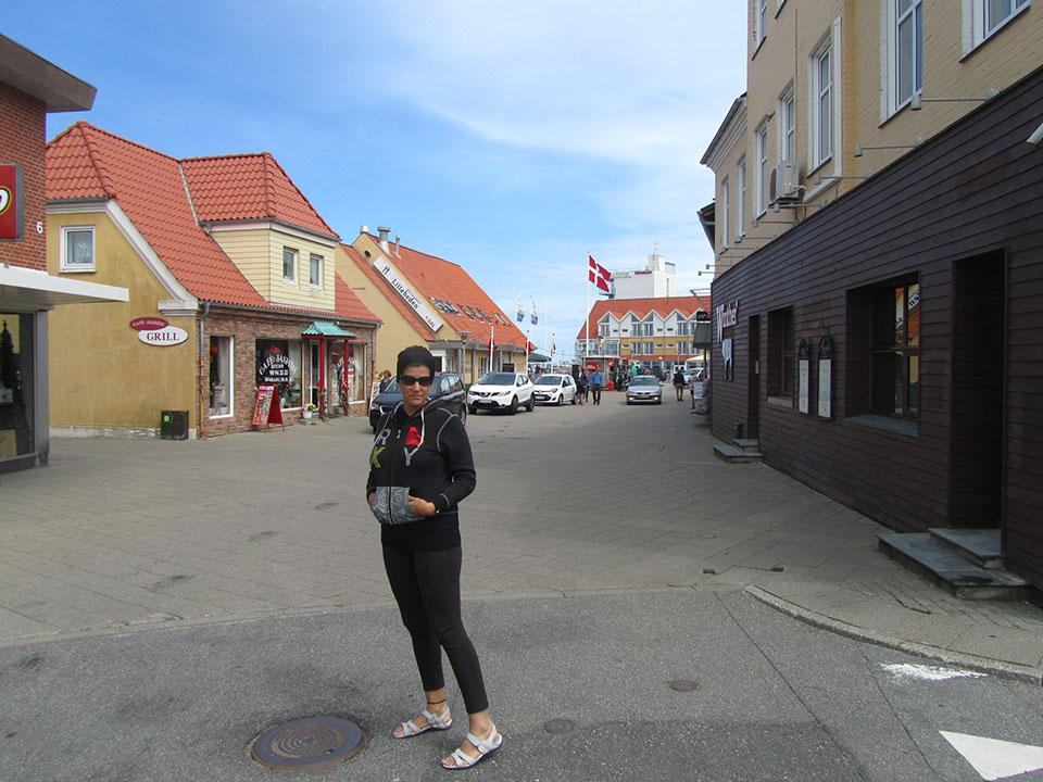 El pueblo de Hirtshals en Dinamarca.