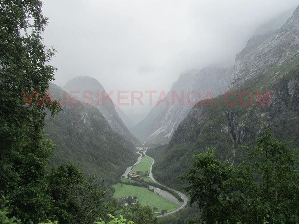 El valle de Stalheims en Noruega.