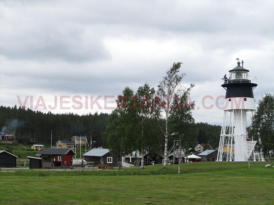 El faro de Piteä en Suecia.