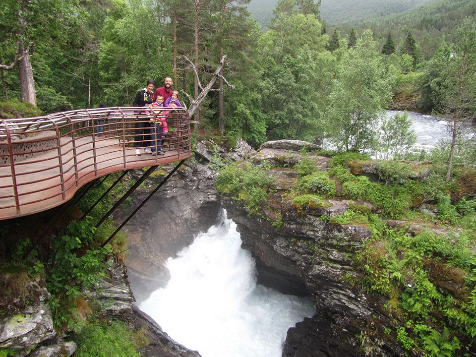 El mirador de Gudbrandsjuvet en Noruega.