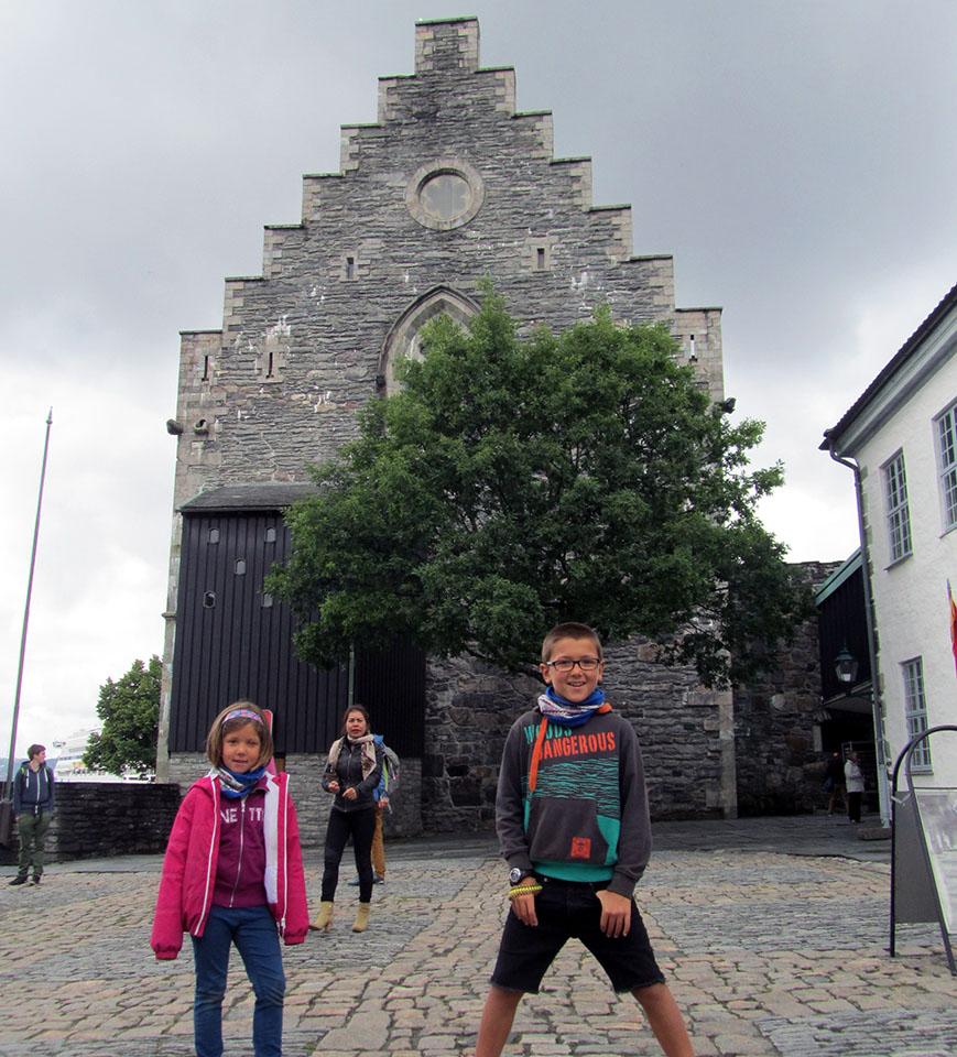 La fortaleza de Bergen en Noruega.