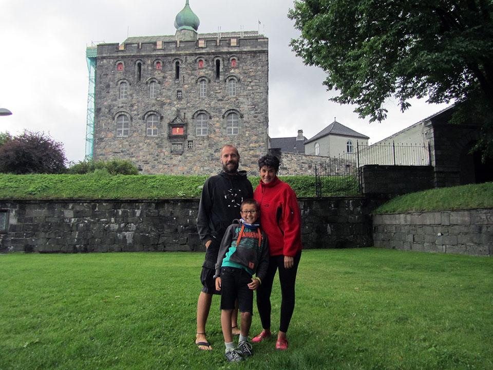 La torre Rosenkrantztarnet en Bergen, Noruega.