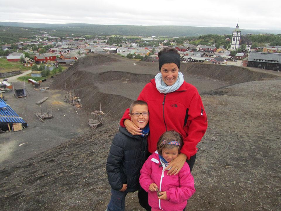 Las antiguas minas en el pueblo de Roros en Noruega.