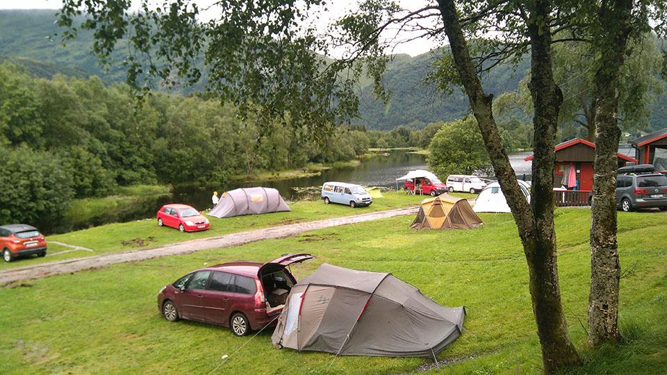 Lone camping en Bergen, Noruega.