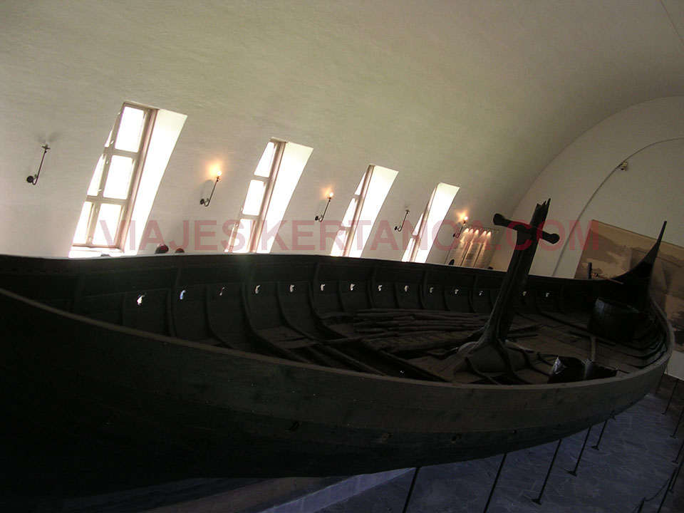 El museo de los barcos vikingos en Oslo, Noruega.