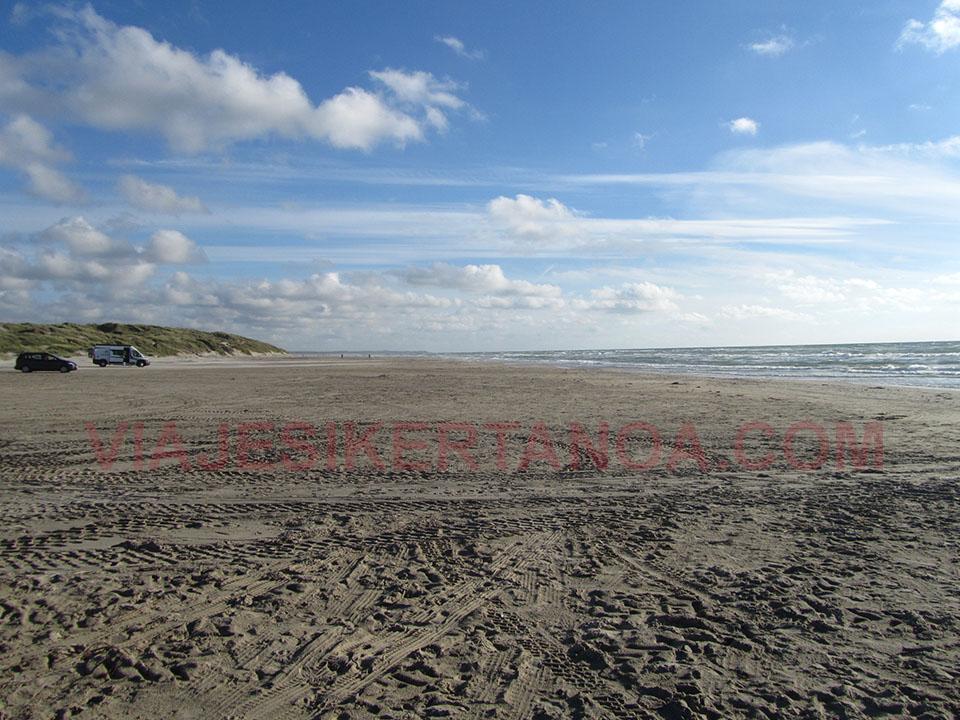 La playa de Hirtshals en Dinamarca.
