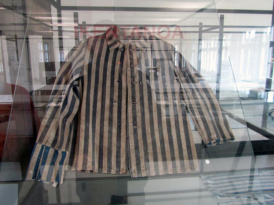 Vestimenta del campo de concentracion de neuengamme en Hamburgo, Alemania.