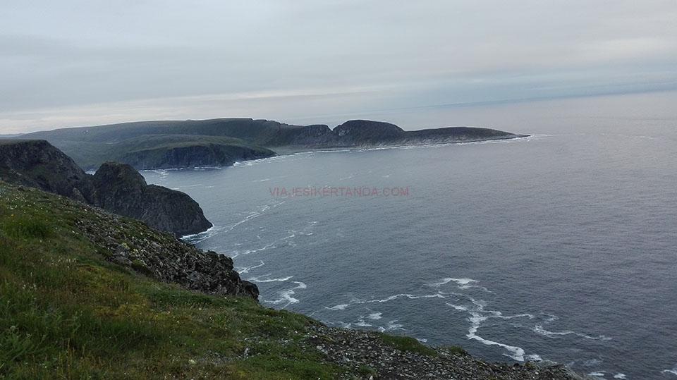 Vistas desde Cabo Norte en Noruega.