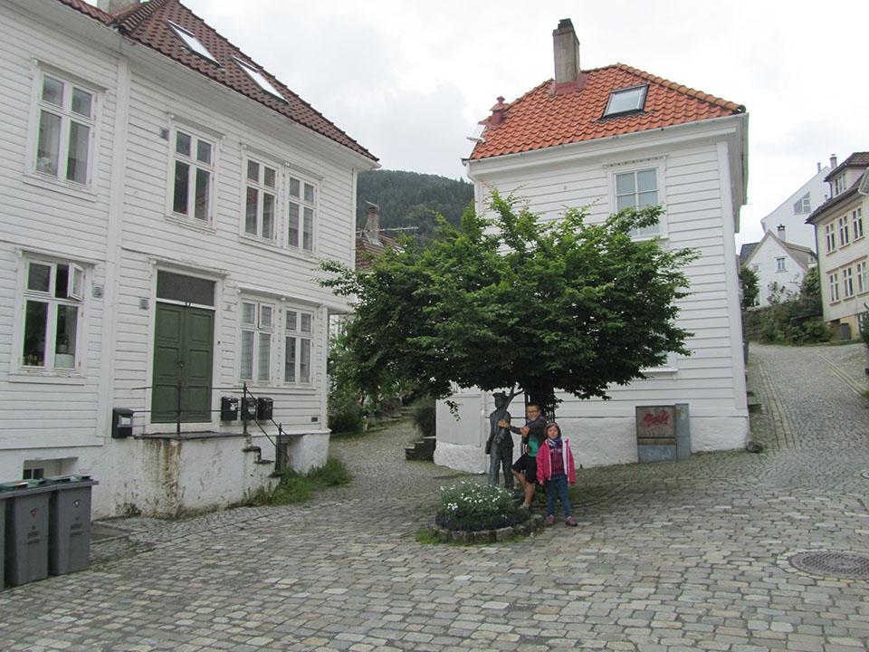 La zona residencial de la ciudad de Bergen en Noruega.