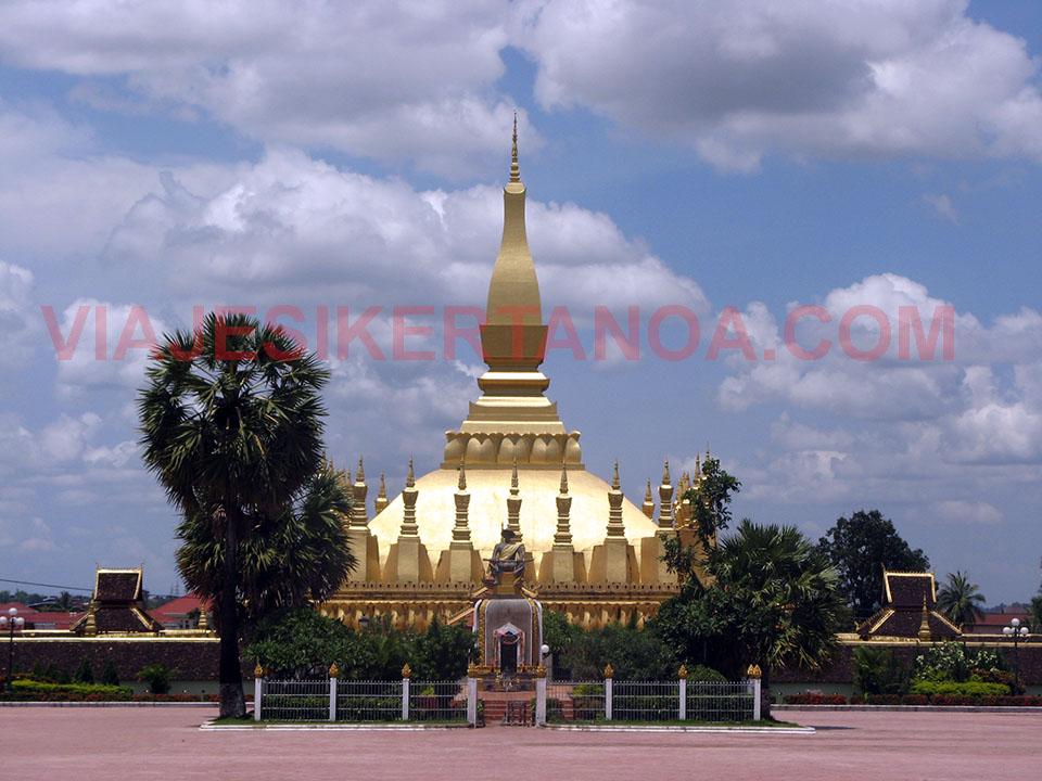 Pha That Luang en Vientiane, Laos.