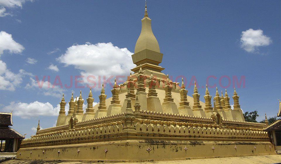 Pha That Luang en Vientián, Laos.