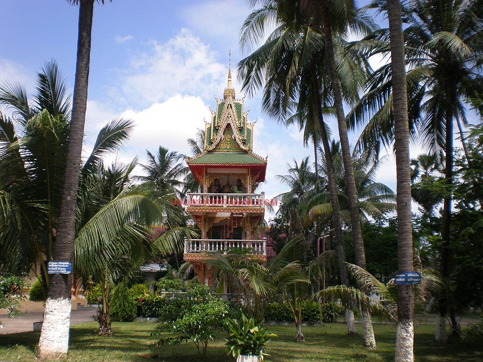 Wat Ong Teu Mahawihan en Vientiane, Laos.