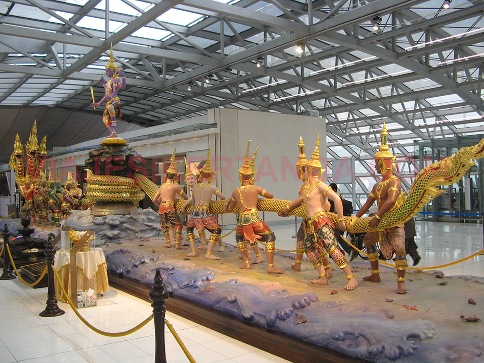 Aeropuerto Suvarnabhumi de Bangkok en Tailandia.