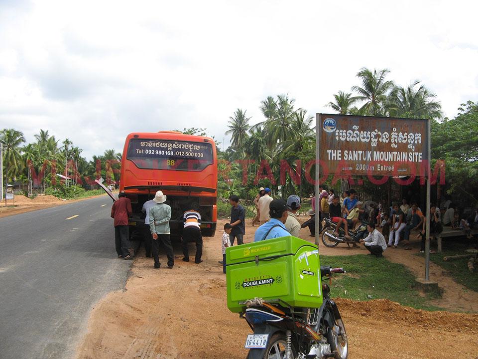 Carretera hacia Kampong Thom en Camboya.