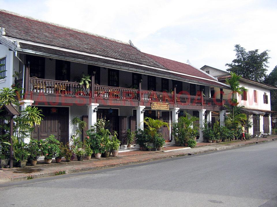 Casas típicas de Luang Prabang en Laos.