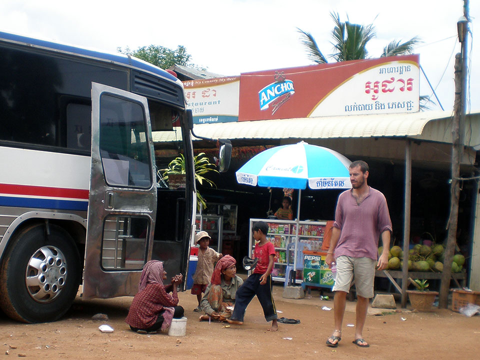 Autobús de Phnom Penh a Battambang en Camboya.