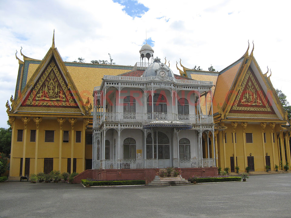 El pabellón de Napoleón III en el Palacio Real de Phnom Penh en Camboya.