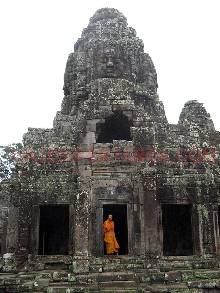 El templo Bayon en las ruinas de Angkor en Siem Reap, Camboya.