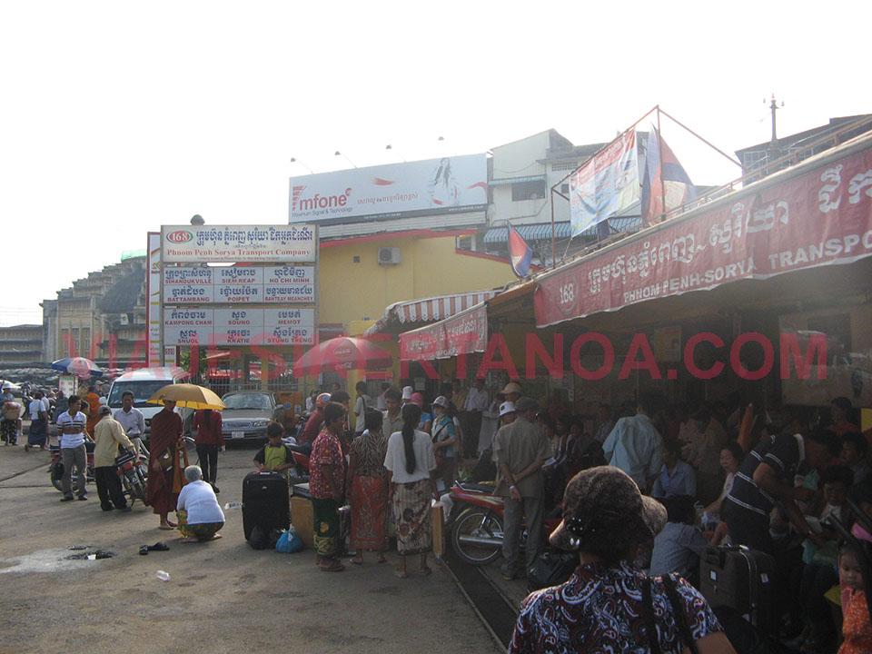 Estación de autobuses de Phnom Penh en Camboya.
