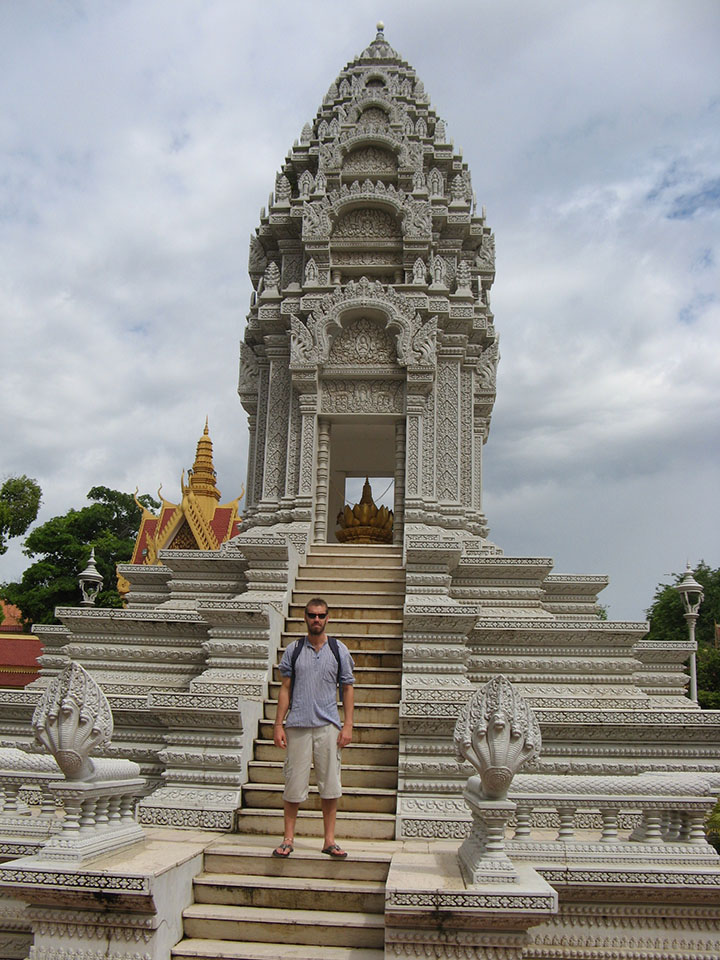 Estupa de la princesa Kantha Bopha en el Palacio Real de Phnom Penh en Camboya.