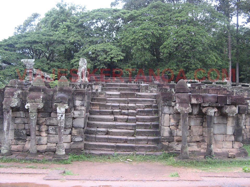 La terraza de los elefantes en las ruinas de Angkor en Siem Reap, Camboya.