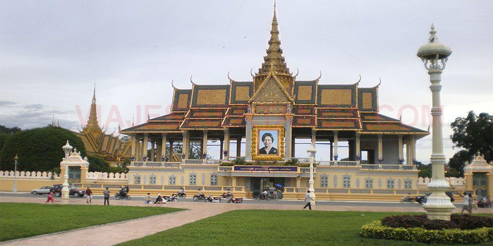 El Palacio Real en Phnom Penh en Camboya.