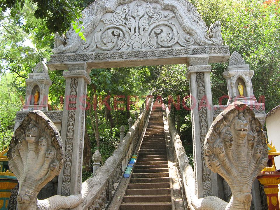 Los templos de Phnom Srei en Kampong Cham en Camboya