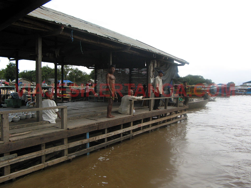 Muelle de Siem Reap en Camboya.